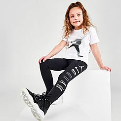 Girls' Little Kids' Jordan AJ1 Silver Toe T-Shirt and Leggings Set