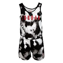Girls' Little Kids' Jordan Tie-Dye Tank Romper