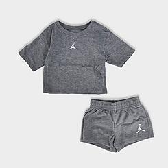 Girls' Little Kids' Jordan Jumpman Essentials T-Shirt and Shorts Set