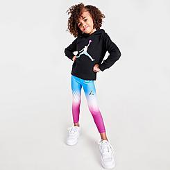 Girls' Little Kids' Jordan Essentials Ombre Hoodie and Leggings Set
