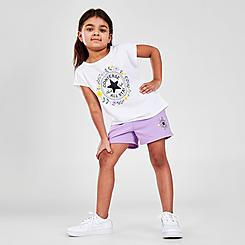 Girls' Little Kids' Converse Flower Crown Chuck Taylor Logo T-Shirt and Shorts Set