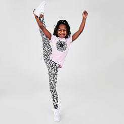 Girls' Little Kids' Converse Leopard T-Shirt and Legging Set