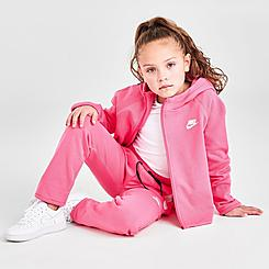 Girls' Little Kids' Nike Sportswear Tech Fleece Full-Zip Hoodie