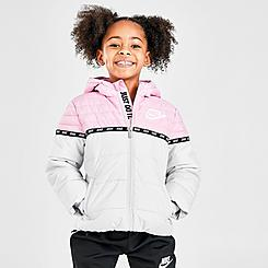 Girls' Little Kids' Nike Taped Colorblock Puffer Jacket