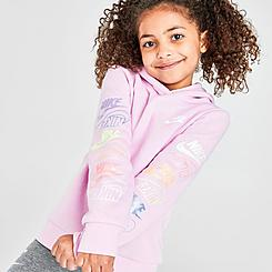 Girls' Little Kids' Nike Futura Stacked Pullover Hoodie