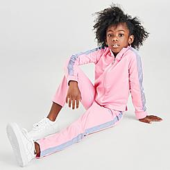 Girls' Little Kids' Nike Fade Tape Tricot Track Suit