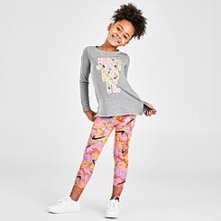Girls' Little Kids' Nike Playground Allover Print Long-Sleeve T-Shirt and Leggings Set