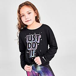 Girls' Little Kids' Nike JDI Northern Lights Long-Sleeve T-Shirt