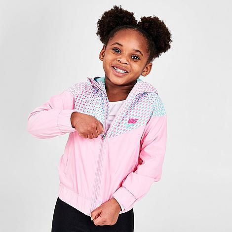 Nike NIKE GIRLS' LITTLE KIDS' SPORTSWEAR PRINTED WINDRUNNER JACKET