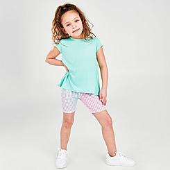 Girls' Little Kids' Nike Top and Pixel Bike Shorts Set