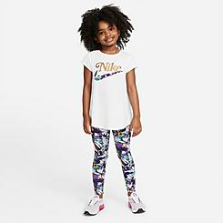 Girls' Little Kids' Nike Floral Tunic Top and Leggings Set