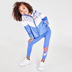Girls' Little Kids' Nike Sportswear Icon Clash Allover Print Windrunner Jacket