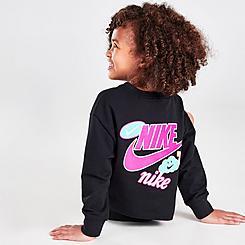 Girls' Little Kids' Nike Sticker Pack Crewneck Sweatshirt