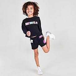 Girls' Little Kids' Nike Sticker Pack French Terry Shorts