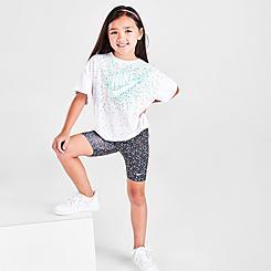 Girls' Little Kids' Nike Swoosh Sprinkles T-Shirt and Bike Shorts Set