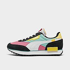 Big Kids' Puma Future Rider Neon Play Casual Shoes