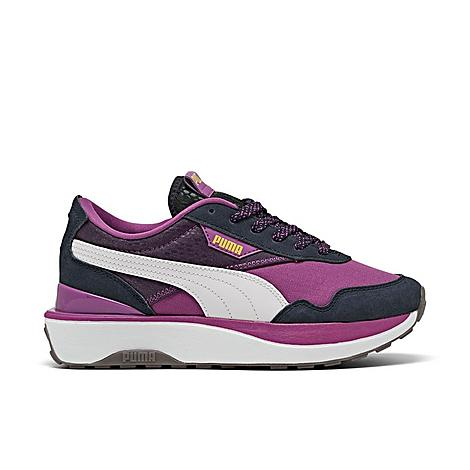 Puma Women's Cruise Rider International Women's Day Casual Shoes in Purple/Byzantium Size 8.0 Suede Special Features International Women's Day model features hues and branding that celebrate women everywhere Product Features Suede, synthetic and textile upper is stylish and comfy Lace closure Large Puma Formstrip at sides and Puma logo tags throughout Cushioned insole Rubber sole with traction pattern The Puma Cruise Rider International Women's Day is imported. Comfortable and ultra-stylish, the Women's Puma Cruise Rider International Women's Day Casual Shoe has a low-key, sporty look for everyday wear. These fun sneakers feature a mixed media upper for a sleek pair of kicks you'll want to rock every single day. Size: 8.0. Color: Purple. Gender: female. Age Group: adult. Puma Women's Cruise Rider International Women's Day Casual Shoes in Purple/Byzantium Size 8.0 Suede