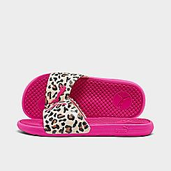 Women's Puma Cool Cat Cheetah Slide Sandals