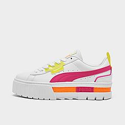 Women's Puma Mayze City Lights Platform Casual Shoes
