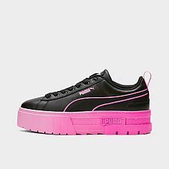 Women's Puma Mayze Platform Breast Cancer Awareness Casual Shoes