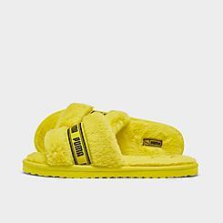 Women's Puma Fluff Slide Sandals