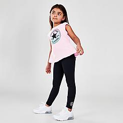 Girls' Little Kids' Converse Ruffle T-Shirt and Legging Set