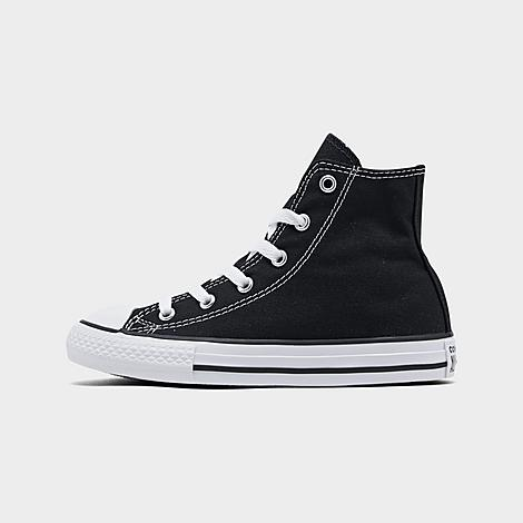 Converse Little Kids' Chuck Taylor Hi Top Casual Shoes in Black/Black Size 12.0 Canvas Have your little one feel like they're right on trend in the Converse Chuck Taylor High Top Casual Shoes. Their canvas upper makes these cool Chucks durable and comfortable, while the rubber outsole will give kids traction, so they'll be able to prevent slipping. Plus, the high top design allows for a bit more ankle support than the average tennies. FEATURES: UPPER: Canvas OUTSOLE: Rubber IMPORTED Size: 12.0. Color: Black. Gender: unisex. Converse Little Kids' Chuck Taylor Hi Top Casual Shoes in Black/Black Size 12.0 Canvas