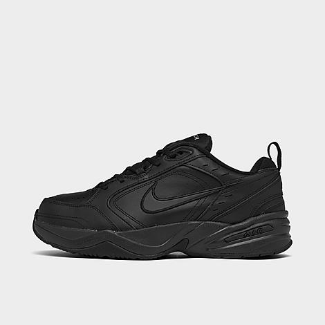 Nike Men's Air Monarch IV Training Shoes (Wide Width 4E) in Black/Black Size 8.0 Leather Men's extra wide width 4E Weight: 15 ounces Synthetic and mesh upper with leather overlays Full-length Phylon foam cushioning underfoot Full-length Nike Air sole unit Rubber sole with multi-traction pattern and flex grooves The Air Monarch IV is imported. With the Nike Air Monarch IV Training Shoes, your training just got a whole lot more comfortable. Featuring lightweight cushioning from the full-length Nike Air unit, these sneakers can stand up to hardcore training sessions and intense workouts. Size: 8.0. Color: Black. Gender: male. Age Group: adult. Nike Men's Air Monarch IV Training Shoes (Wide Width 4E) in Black/Black Size 8.0 Leather