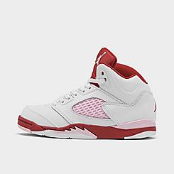 Girls' Little Kids' Air Jordan 5 Retro Basketball Shoes