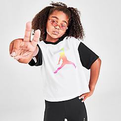 Girls' Jordan Colorblocked Boxy T-Shirt