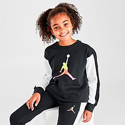 Girls' Jordan Jumpman Air Rise Crewneck Sweatshirt