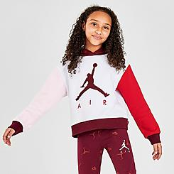 Girls' Air Jordan Volo Colorblocked Fleece Pullover Hoodie