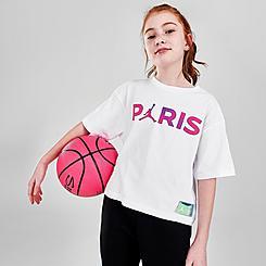 Girls' Jordan Paris Saint-Germain Galaxy Script T-Shirt
