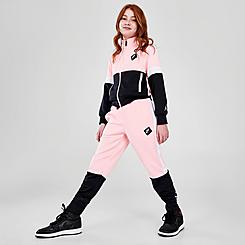 Girls' Jordan Jumpman Air Colorblock Tricot Jogger Pants