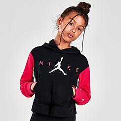 Girls' Jordan By Nike Boxy Hoodie