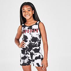 Girls' Jordan Tie-Dye Tank Romper
