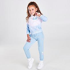 Girls' Toddler Fila Fleece Hoodie and Jogger Pants Set