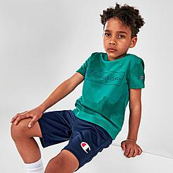 Boys' Little Kids' Champion Cloud Tie-Dye Box Outline T-Shirt and Shorts Set