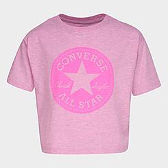 Girls' Converse Overdyed Chuck Patch Tulip-Back Boxy T-Shirt