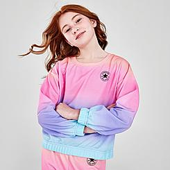 Girls' Converse Ombre Boxy French Terry Crewneck Sweatshirt