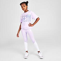 Girls' Converse Foil Blocked High-Rise Leggings