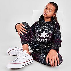 Girls' Converse Chuck Taylor Patch Print Cropped Hoodie