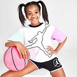 Girls' Jordan J's Are For Girls Colorblock Jumpman T-Shirt