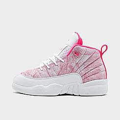 Girls' Little Kids' Air Jordan Retro 12 Basketball Shoes