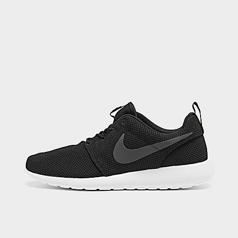 Nike Men's Roshe One Casual Shoes in Black/Black Size 10.0 Versatile and easygoing, the Men's Nike Roshe One Casual Shoes feature classic, everyday design. Full mesh upper for breathability Solarsoft sockliner Cushioned collar for ankle protection Phylon midsole for lightweight cushioning Rubber waffle outsole provides traction The Nike Roshe One is imported With a name inspired by that of a Zen Master, the Men's Nike Roshe One Casual Shoes were designed to be as simple as possible, giving you only what you need and none of what you don't. Versatile enough for everyday wear, there's no outfit that the Nike Roshe One can't improve. Size: 10.0. Color: Black. Gender: male. Age Group: adult. Nike Men's Roshe One Casual Shoes in Black/Black Size 10.0