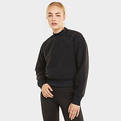 Women's Puma Train Logo Quarter-Zip Pullover Jacket