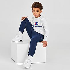 Boys' Toddler and Little Kids' Champion Big C Long-Sleeve T-Shirt and Jogger Pants Set