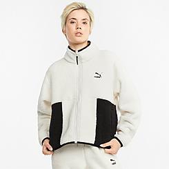 Women's Puma CLSX Sherpa Track Jacket