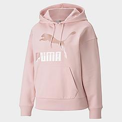 Women's Puma Classics Logo Pullover Hoodie (Plus Size)