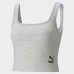 Women's Puma Classics Ribbed Bralette Crop Top